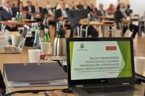 Walne Zgromadzenie Przedstawicieli Członków Pomorskiej Izby Rzemieślniczej MSP-12.05.2021